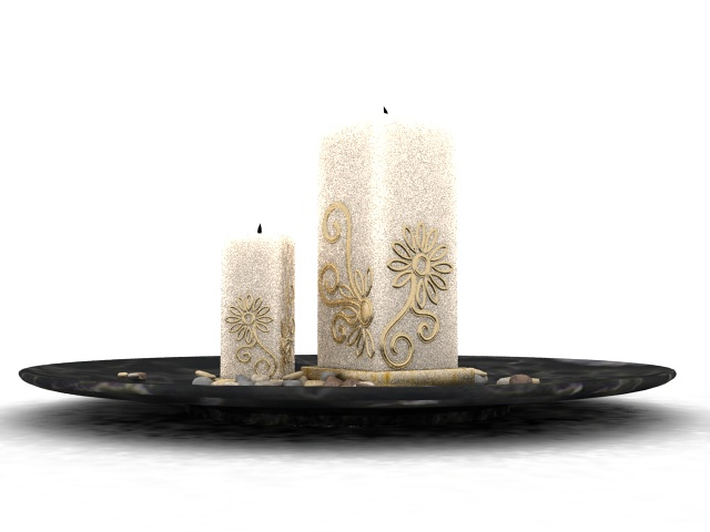 Marble Candle Tray 3d Model Files Free Download Modeling