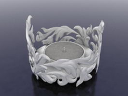 Carved candle holder 3d model