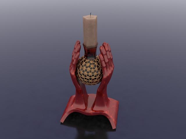 Hand Shaped Candle Holder 3d Model 3ds Max Files Free Download Modeling 23816 On Cadnav