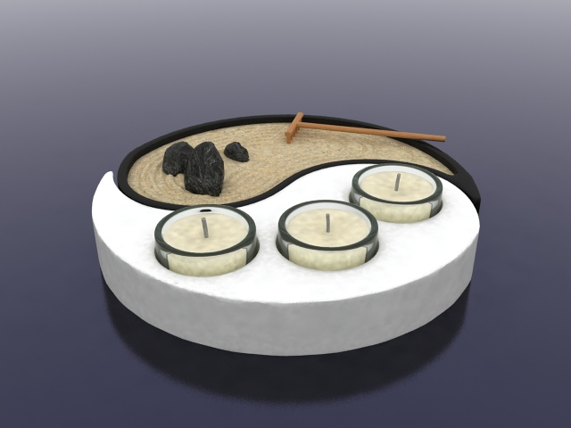 asian candle holder