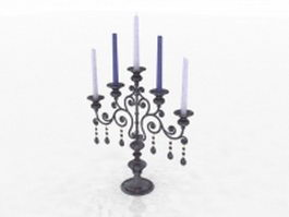 Antique candelabrum 3d model