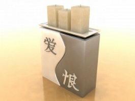 Elegant candle holder 3d model