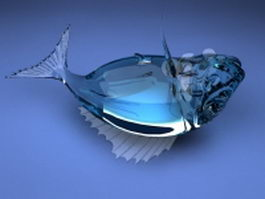 Crystal fish 3d model