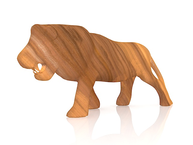 Wood Carving Lion 3d Model 3ds Max Files Free Download