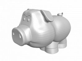 Cartoon pig statue 3d model