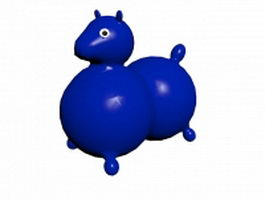 Cartoon horse toy 3d model