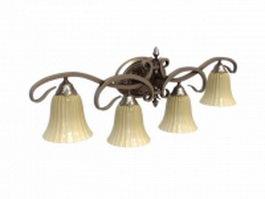 Rustic copper wall lamp 3d model