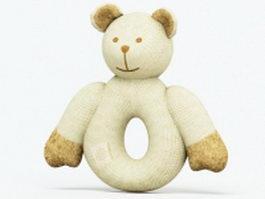 Wool knitting teddy bear 3d model
