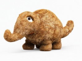 Plush elephant toy 3d model