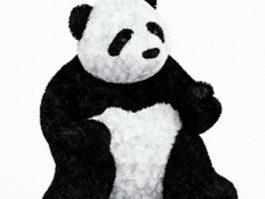 Giant panda plush toy 3d model