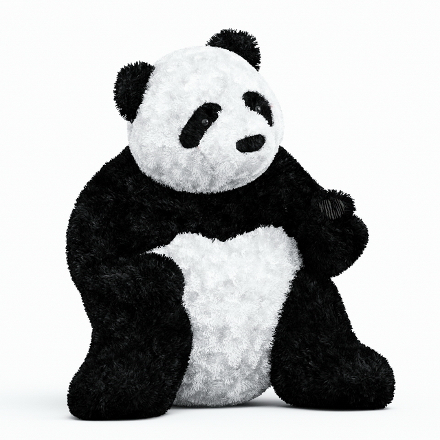 Giant Panda Plush Toy 3d Model 3ds Max Files Free Download