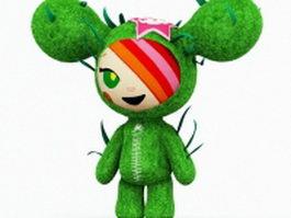 Green cartoon doll 3d model