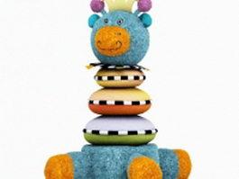 Plush animal toy 3d model