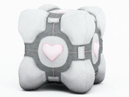 Stuffed toy cube 3d model