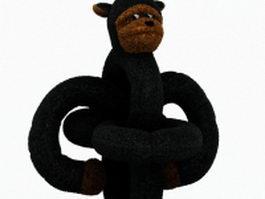 Stuffed monkey toy 3d model