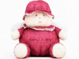 Cute plush bear 3d model