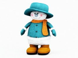 Cute Christmas snowman toy 3d model