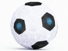Plush soccer ball 3d model