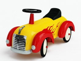 Children toy car 3d model