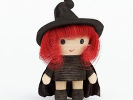 Little witch doll 3d model