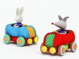 Animal toy car 3d model
