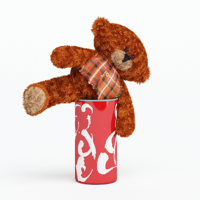 Small toy bear 3d model 3ds max files free download for What kind of paint to use on kitchen cabinets for teddy bear wall art