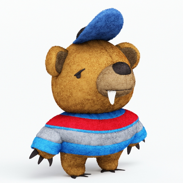Stuffed toy monster bear 3d model 3ds max files free for What kind of paint to use on kitchen cabinets for teddy bear wall art