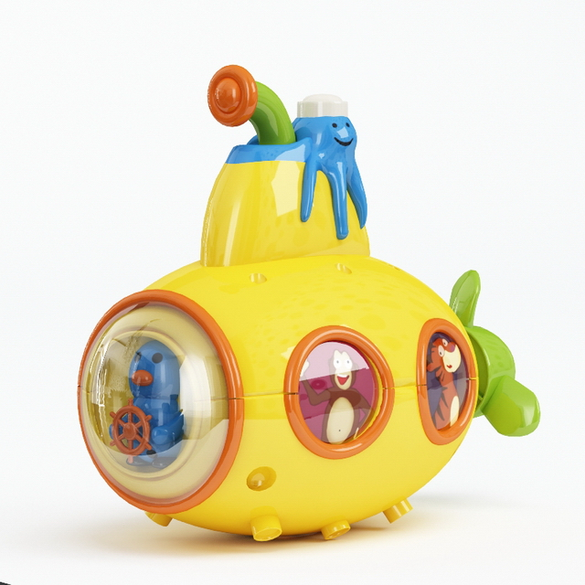 Plastic Submarine Toy 3d Model 3ds Max Files Free Download