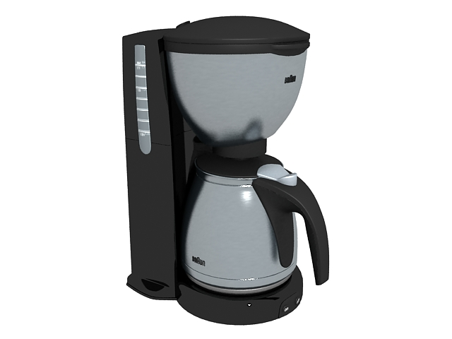 Braun Coffee Maker 3d Model 3ds Max Files Free Download