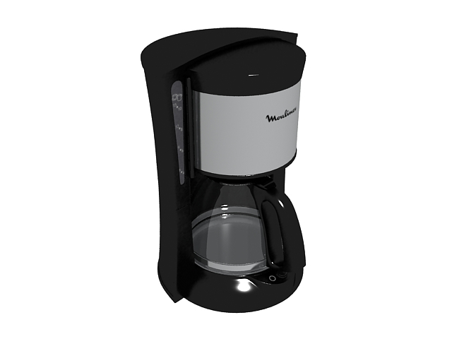 Moulinex Coffee Maker 3d Model 3ds Max Files Free Download