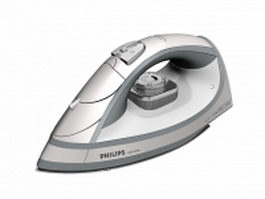 Philips dry iron 3d model