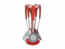 Kitchen utensil carousel set 3d model