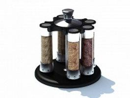 Spice jar sets 3d model