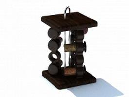 Wooden spice rack 3d model