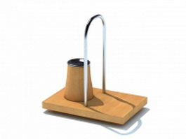 Wooden tray spice rack 3d model