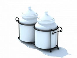 Ceramic sugar pots 3d model