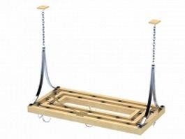 Hanging spice rack 3d model