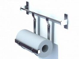 Kitchen paper towel holder 3d preview