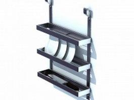 Wall mounted plate racks 3d model