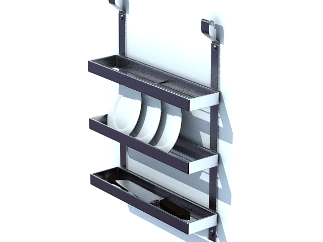 Wall mounted plate racks 3d model 3ds max files free download