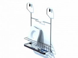 Chrome dish rack 3d model