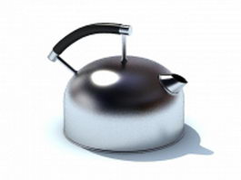 Stainless steel water kettle 3d model