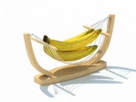 Wooden fruit tray 3d model