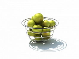 Wire fruit bowl 3d model