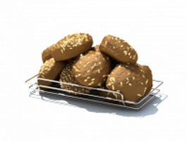 Wire bread tray 3d model