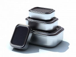 Metal lunch boxes 3d model