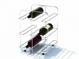 Wire wine racks for home 3d model