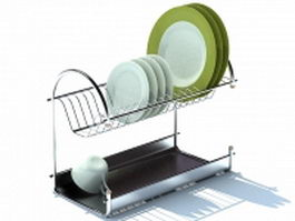 Wire plate rack 3d model