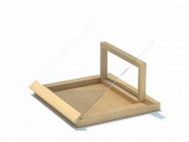 Wooden plate rack 3d model