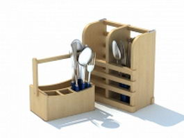 Cutlery holders for table 3d model